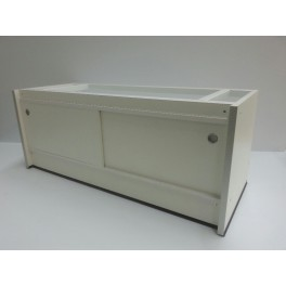 Carrier table, 200cm with sliding doors and adjusting bolts