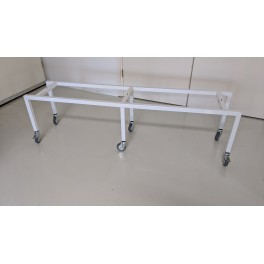 Open carrier table, 160cm with adjusting bolts